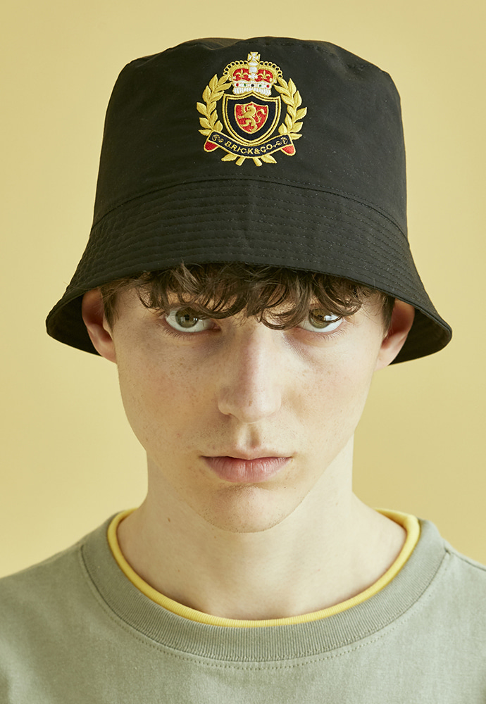 BRICK브릭 NOUVELLE FRANCE BUCKET HAT (BLACK)