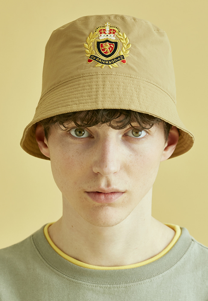 BRICK브릭 NOUVELLE FRANCE BUCKET HAT (BEIGE)