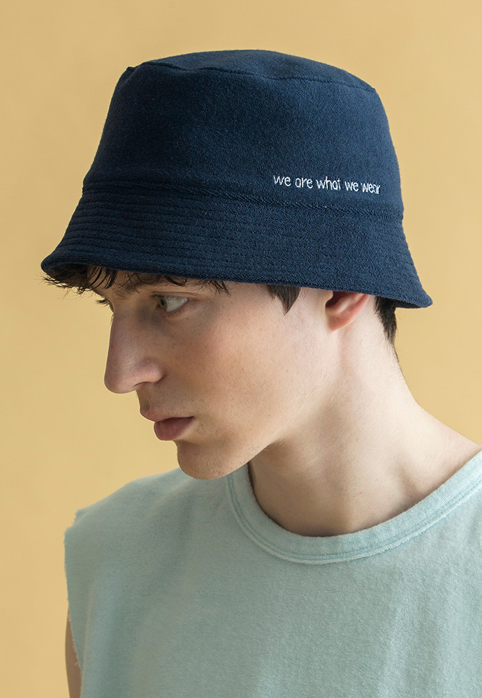 BRICK브릭 MOU TERRY BUCKET HAT (NAVY)