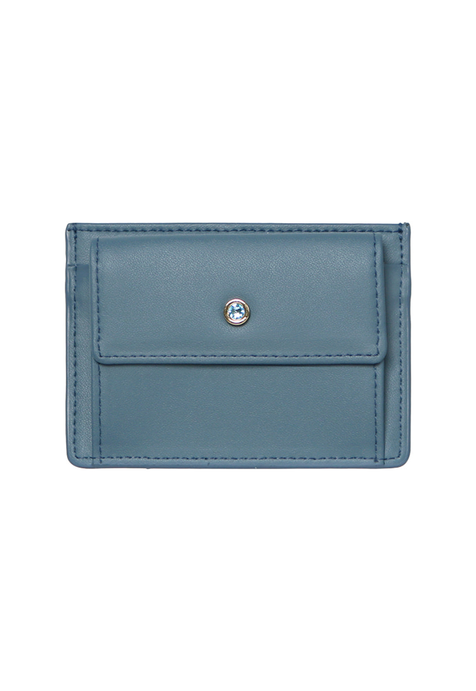 D.LAB디랩 (탄생석지갑) Blumen Pocket Card Wallet - Blue
