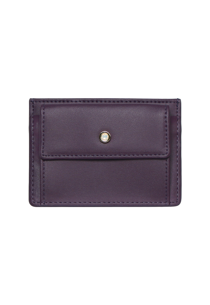 D.LAB디랩 (탄생석지갑) Blumen Pocket Card Wallet - Purple