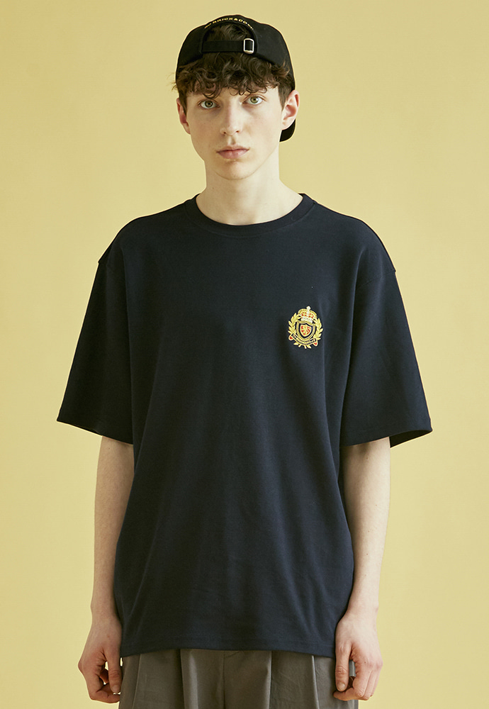 BRICK브릭 NOUVELLE FRANCE T SHIRTS (NAVY)
