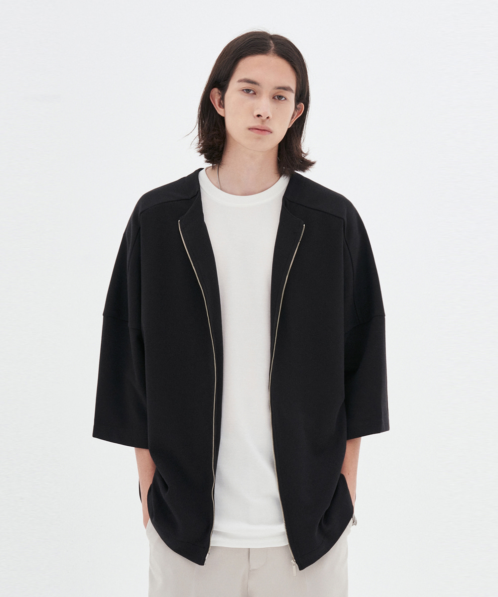L'OEIL로에일 RAGLAN SUMMER CARDIGAN_BLACK