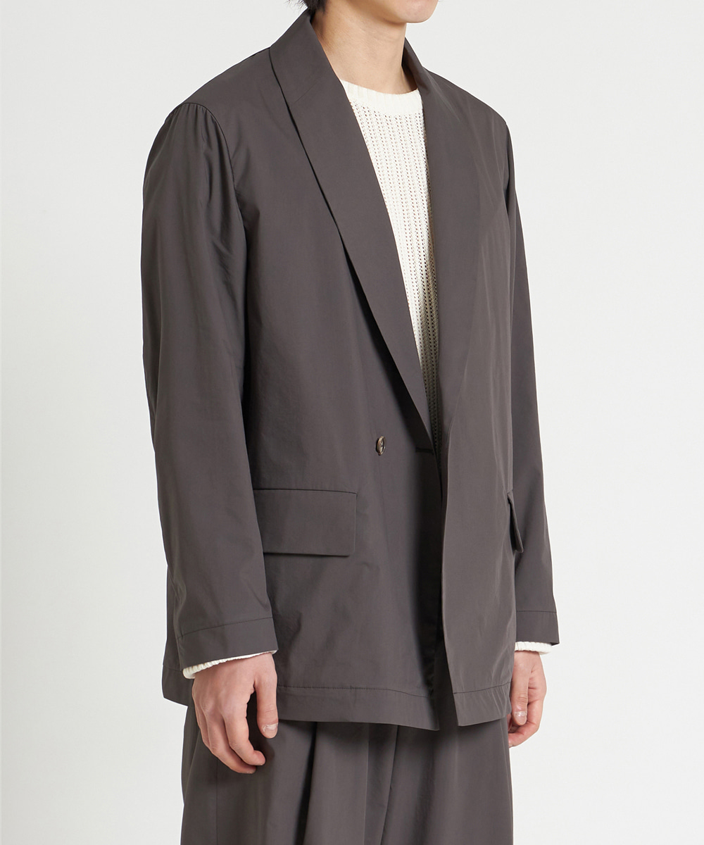 YOUTH유스랩 21SS Shawl Collar Jacket Brown